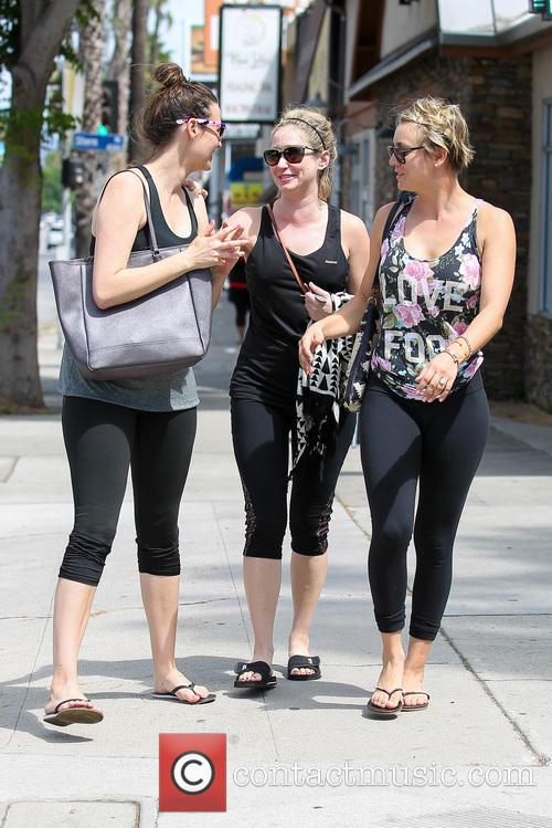 Kaley Cuoco leaves a gym in Studio City