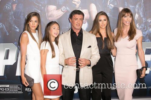 Sistine Rose, Scarlet Rose Stallone, Sylvester Stallone, Sophia Rose Stallone and Jennifer Flavin Stallone 2