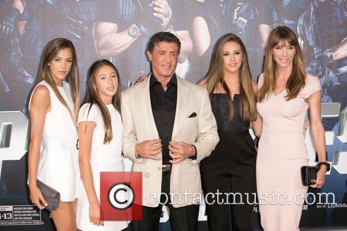 Sistine Rose, Scarlet Rose Stallone, Sylvester Stallone, Sophia Rose Stallone and Jennifer Flavin Stallone 3