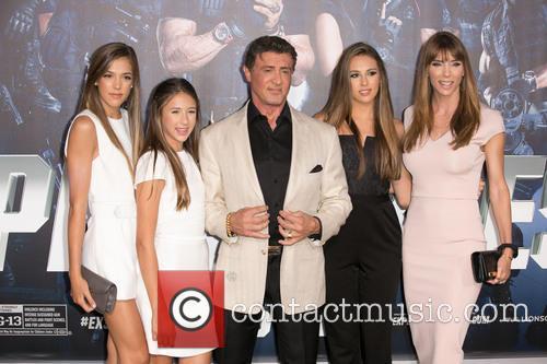 Sistine Rose, Scarlet Rose Stallone, Sylvester Stallone, Sophia Rose Stallone and Jennifer Flavin Stallone 1