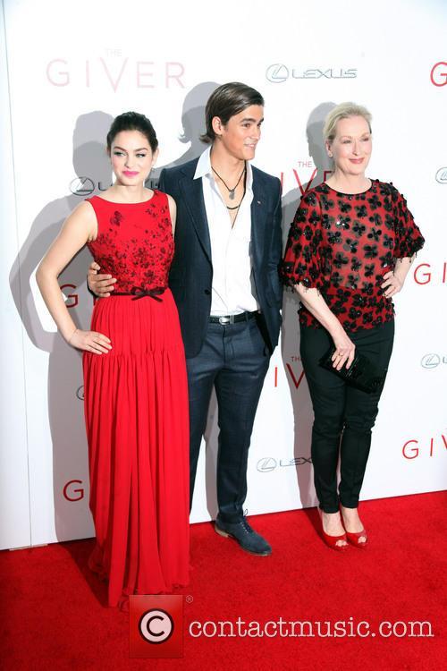 Odeya Rush, Brenton Thwaites and Meryl Streep 3