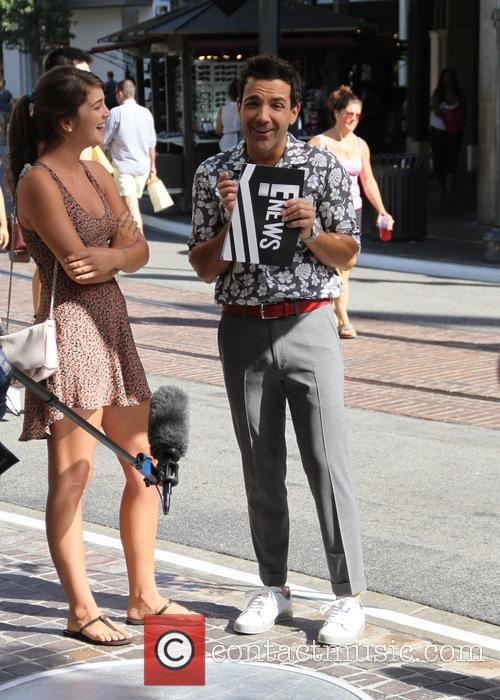 George Kotsiopoulos films his show at the Grove...