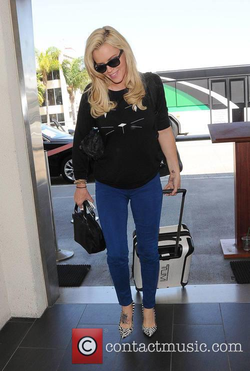 Jenny McCarthy at Los Angeles International Airport (LAX)