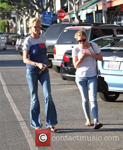 Melanie Griffith takes her daughter to a nail...