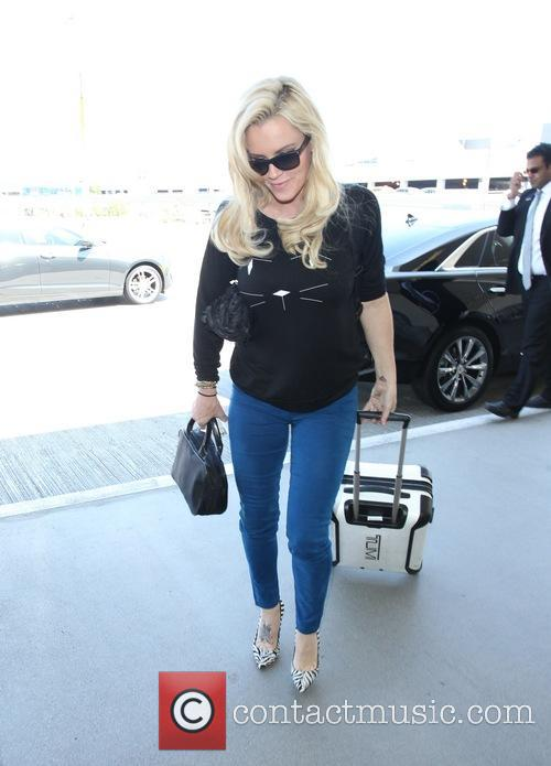 Jenny McCarthy at Los Angeles International Airport (LAX)