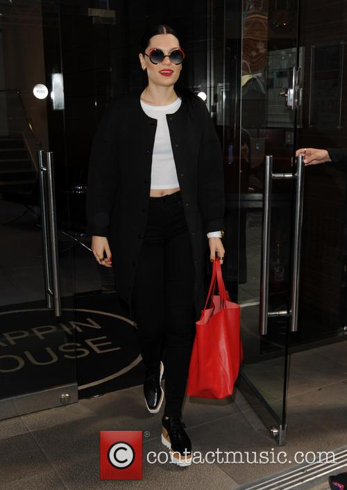 Jessie J leaves the Kiss FM Offices