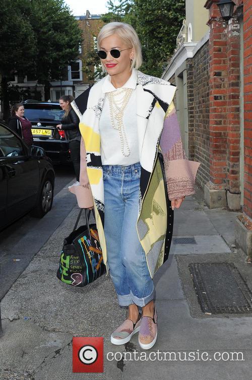 Rita Ora leaving The Grove Music Studios