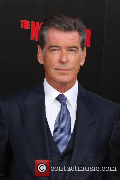 Brosnan at the premier for The November Man, 2014