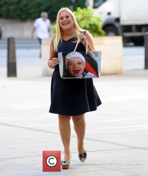Vanessa Feltz arrives at the BBC