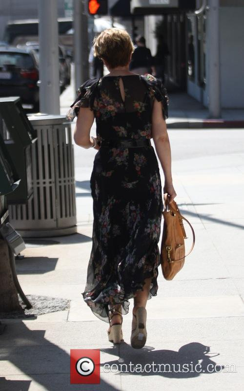 Yeardley Smith goes shopping in Beverly Hills