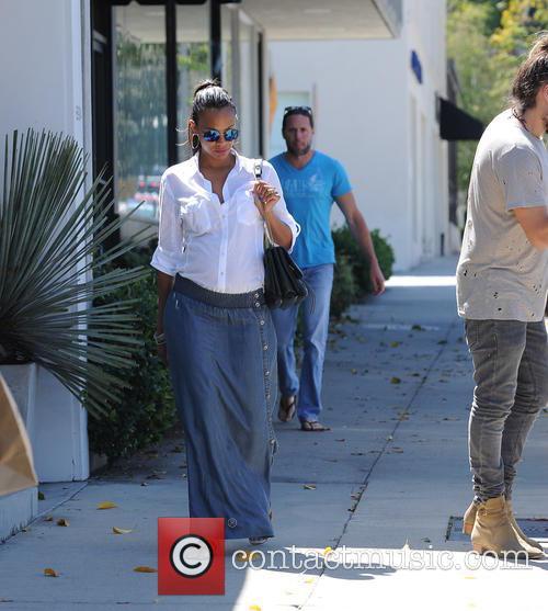 Zoe Saldana and husband Marco Perego out and...