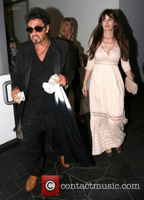 Al Pacino and Lucila Sola out in Beverly...
