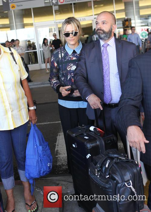Taylor Schilling arriving at LAX