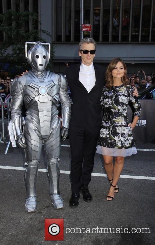 Peter Capaldi, Jenna Coleman and And Robot 4