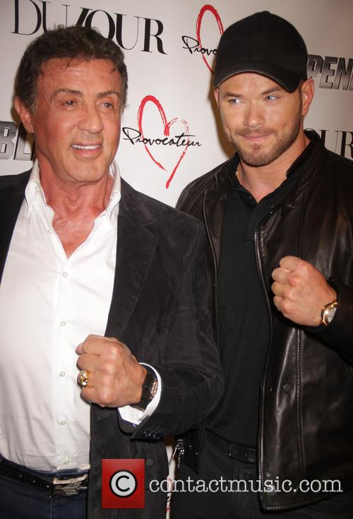 Sylvester Stallone and Kellen Lutz 3