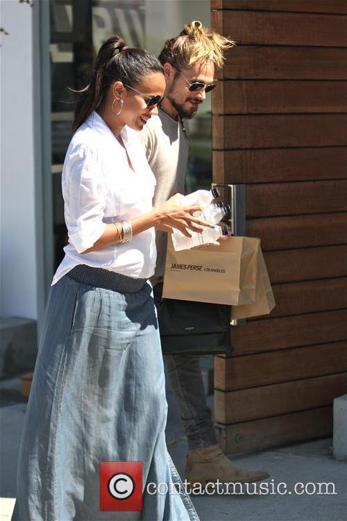 Zoe Saldana shopping in Hollywood