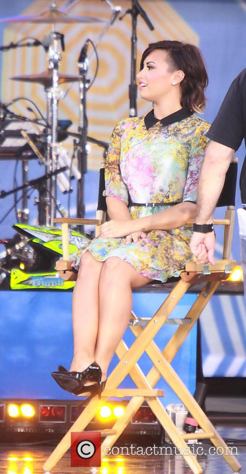 Demi Lovato appears on 'Good Morning America' to...