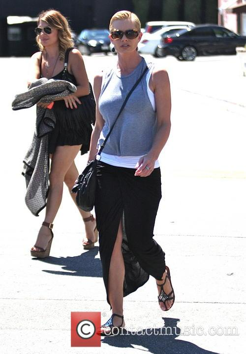 Jaime Pressly out with a friend in Hollywood