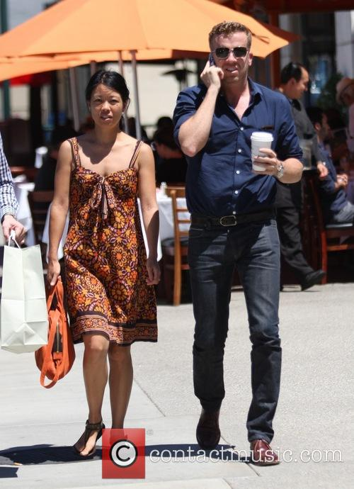 Joseph McGinty Nichol grabs lunch in Hollywood