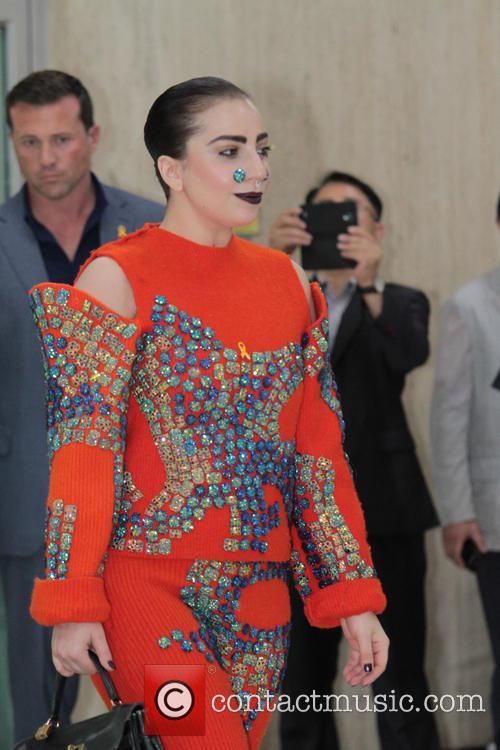 Lady Gaga arrives at Gimpo International Airport