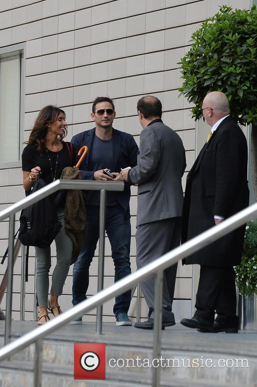 Frank Lampard and Christine Bleakley arriving at their...