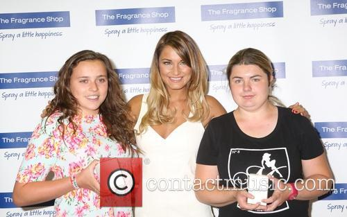 Samantha Faiers promotes her new fragrance 'La Bella'...