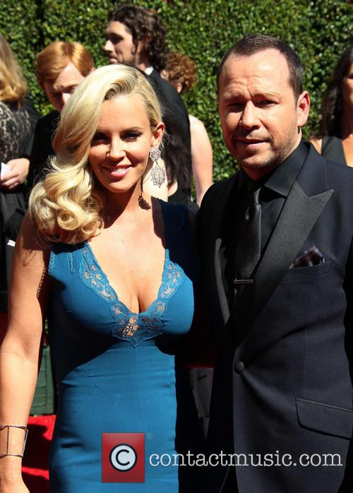 The happy couple: Jenny McCarthy and Donnie Wahlberg