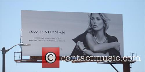 Kate Moss advertising billboard for David Yurman