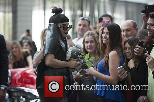 Lady Gaga arrives in Perth for the start...