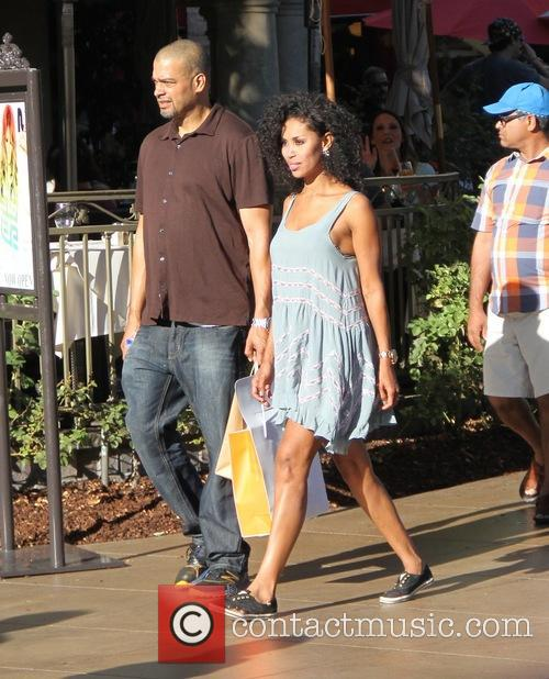 V Stiviano and a friend out shopping in...