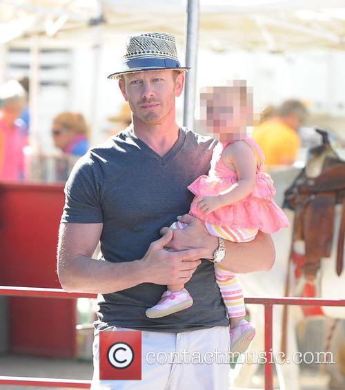 Ian Ziering and family at the Farmers Market