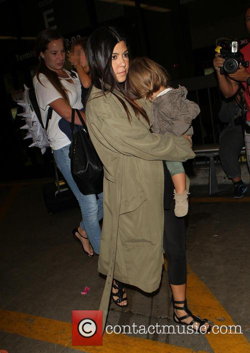 Kourtney Kardashian, Penelope Disick and Mason Disick 2