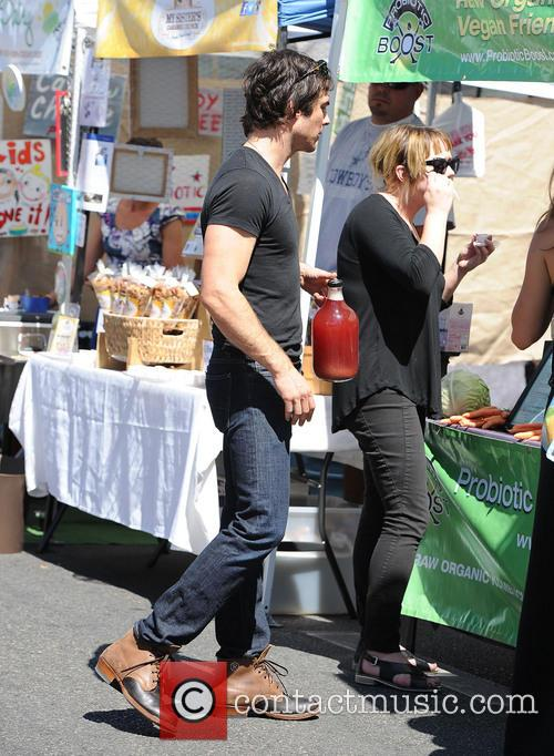 Nikki Reed and Ian Somerhalder at the Farmers...