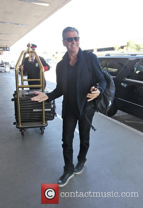 Pierce Brosnan at Los Angeles International Airport (LAX)