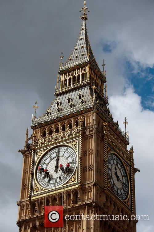 Big Ben Clock cleaning