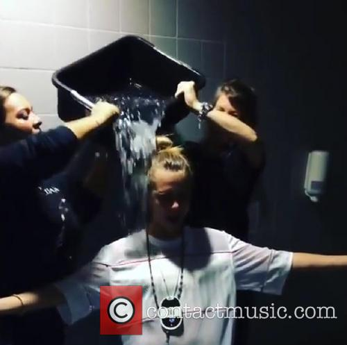 Celebrities take part in the ALS ice bucket challenge
