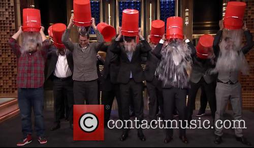 Jimmy Fallon, The Roots, Rob Riggle, Horatio Sanz and Steve Higgins 3