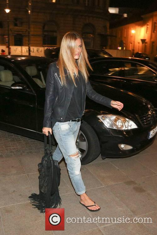 Bar Refaeli returns to the Hotel Bristol after...