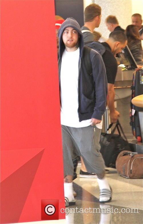 EXCLUSIVE Mac Miller departs Los Angeles International Airport