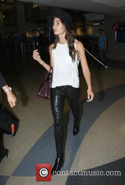 Lily Aldridge at LAX