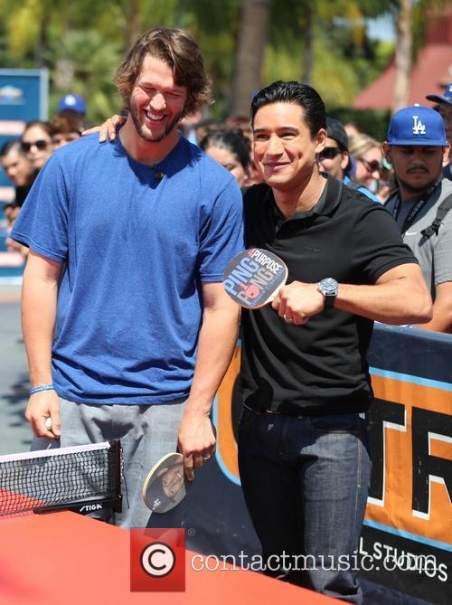 Clayton Kershaw and Mario Lopez 2