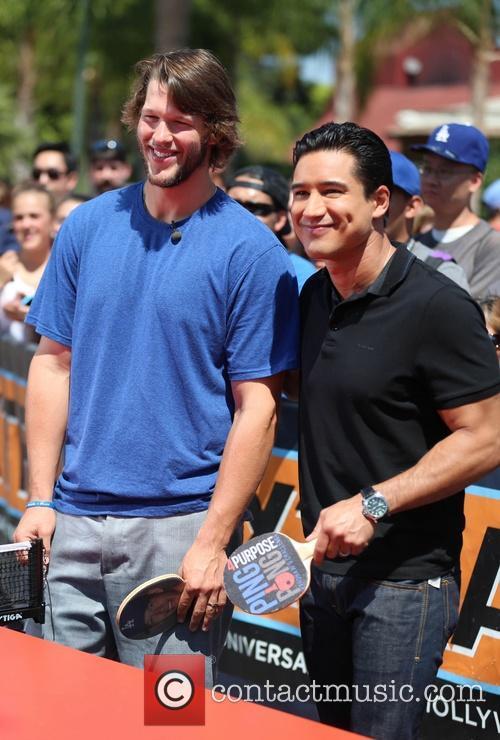 Clayton Kershaw and Mario Lopez 8