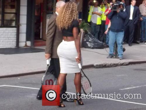 Serena Williams and David Letterman 2