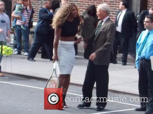 Serena Williams and David Letterman 3