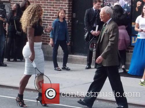 Serena Williams and David Letterman 7