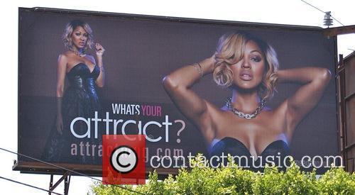 Megan Good's advertising billboard