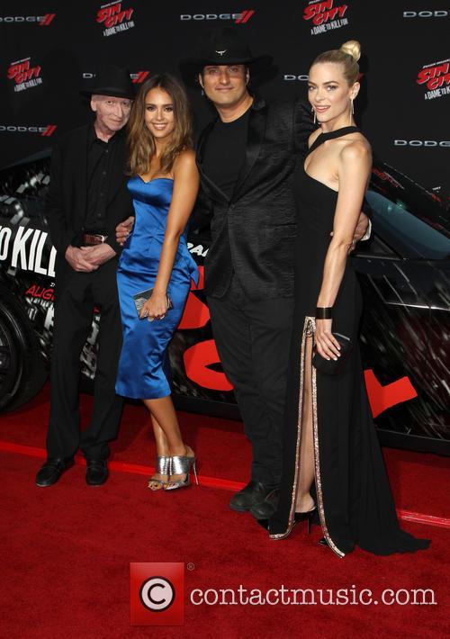Frank Miller, Jessica Alba, Robert Rodriguez and Jaime King 1