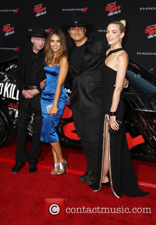 Frank Miller, Jessica Alba, Robert Rodriguez and Jaime King 3