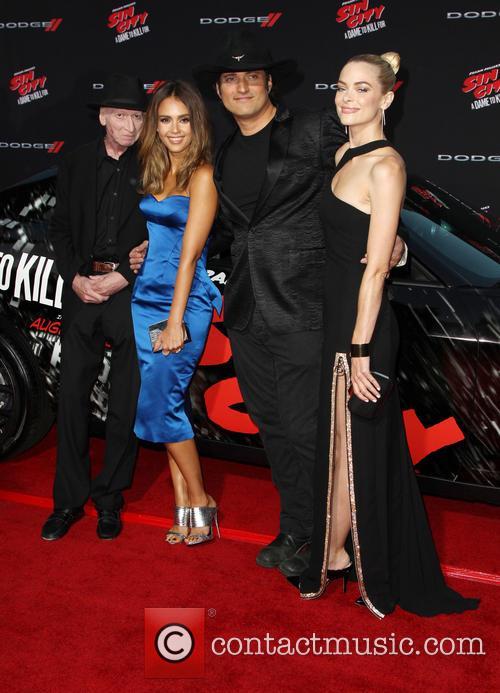 Frank Miller, Jessica Alba, Robert Rodriguez and Jaime King 7