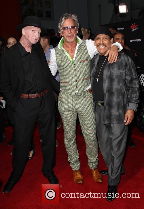 Frank Miller, Mickey Rourke and Danny Trejo 8